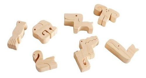 rompecabezas y encastre barco d animales puzzle waldorf baum