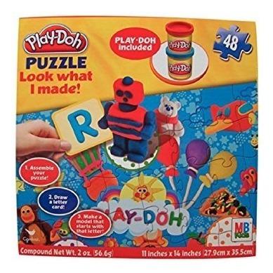 rompecabezas,juguete play-doh rompecabezas mira lo que h..
