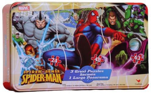 rompecabezas,spiderman panorama puzzle en una lata