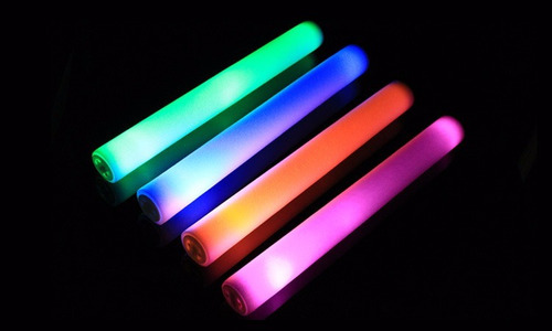 rompecoco luminoso barras goma espuma led multicolor x 1u