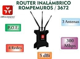 rompemuros 3bumen router alta potencia