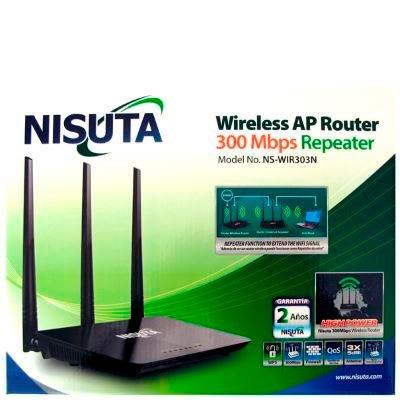 rompemuros router wifi repetidor 3 antenas nisuta 300mbps