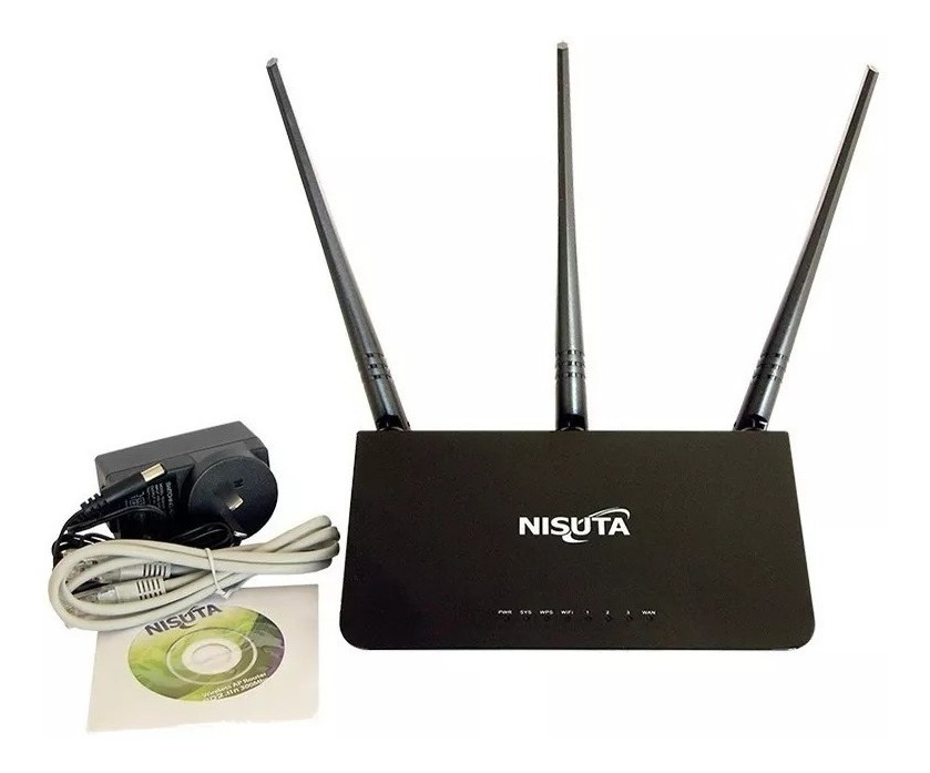 ROUTER WIRELESS NISUTA NS-WIR303N 300MBPS 2.4GHZ