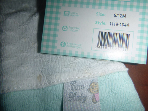 romper bebe talla 9-12 meses marca euro baby