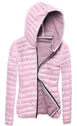 rompeviento de invierno térmico con capucha para mujer