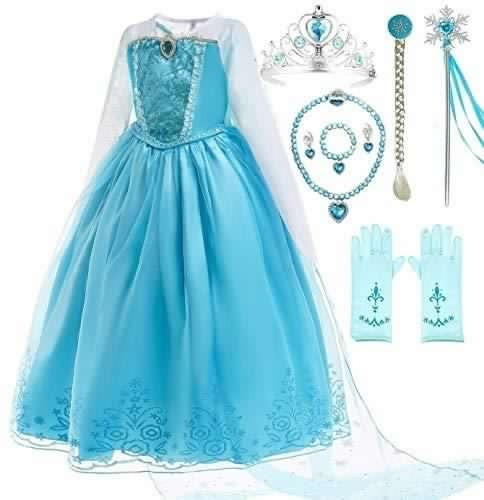 romy's collection ice queen blue party princess elsa - disf