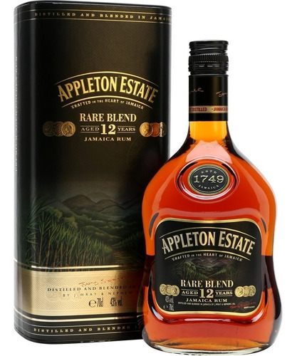 ron appleton estate rare blend 12 años c/lata importado