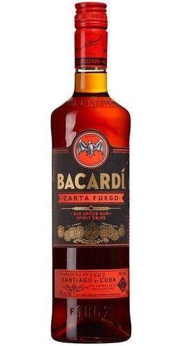ron bacardi carta fuego botella de litro envio gratis