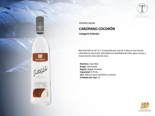 ron cocoron carupano caja 12 botellas 0.70 l