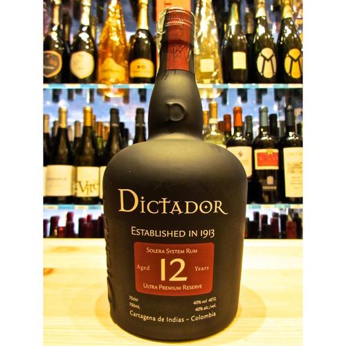 ron dictador solera 12 años- promocion 2 botellas $ 169.000
