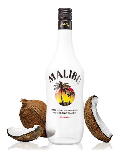 ron malibu con coco 750ml original origen barbados