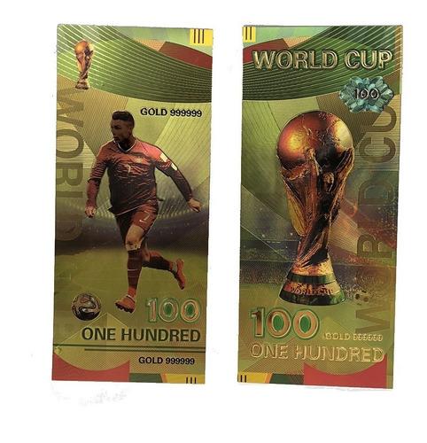 ronaldo billete de colección rusia copa mundial fifa 2018