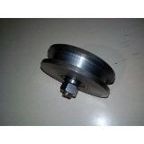 rondana y ruedas para portones de hierro de 4 pulgadas v  u