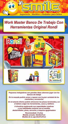 rondi work master taller banco trabajo nene 3116 en smile