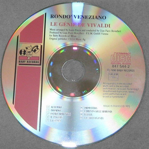 rondo veneziano - le génie de vivaldi cd importado impecable