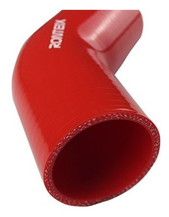 , RED 76MM Ronteix Universal 4 Ply High Performance 45 Degree Elbow Coupler Silicone Hose 3