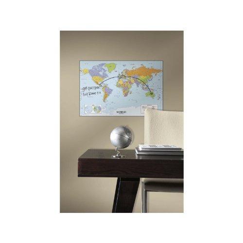 roommates mundo mapa seco erase pelar y palo calcomanías par