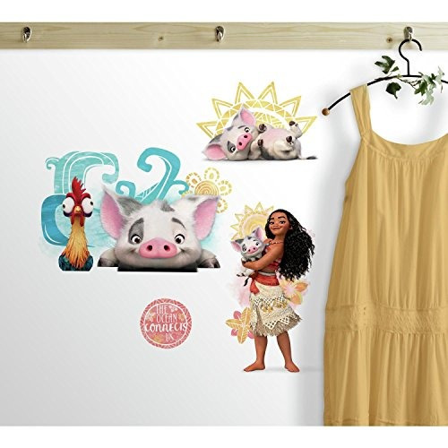 roommates rmk3680scs disney moana and friends peel and stick