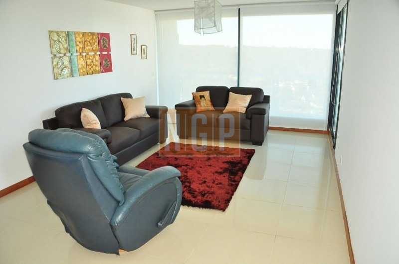 roosevelt, punta del este piso alto con vista al mar! , cómodo y muy luminoso . modenos muebles!  -ref:10826