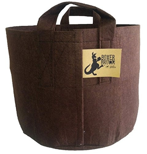 root pouch boxer con asas - 30 galones, marrón
