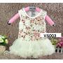Set Vestido Tutu Rose (3pcs) Para Bebes Y Niñas, Ropa