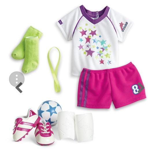 Ropa American Girl Outfit Equipo De Futbol -   549.00 en Mercado Libre ed3e38f1a17af