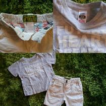 Camisas Y Short´s Zara Baby. Perfectas!! 3-6 Y 9-12 Meses
