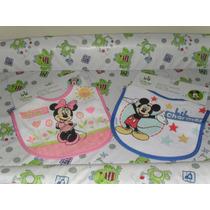 Baberos Disney Baby Minnie Y Mickey Mouse