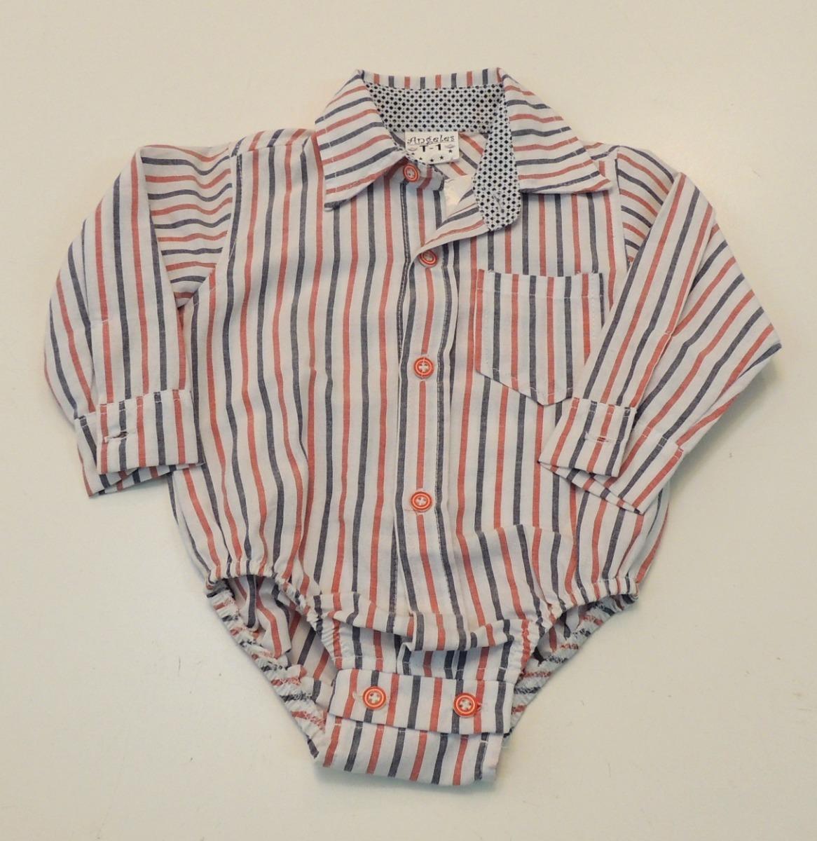 199583792 ropa bebe body camisa rayada abrazo de oso. Cargando zoom.