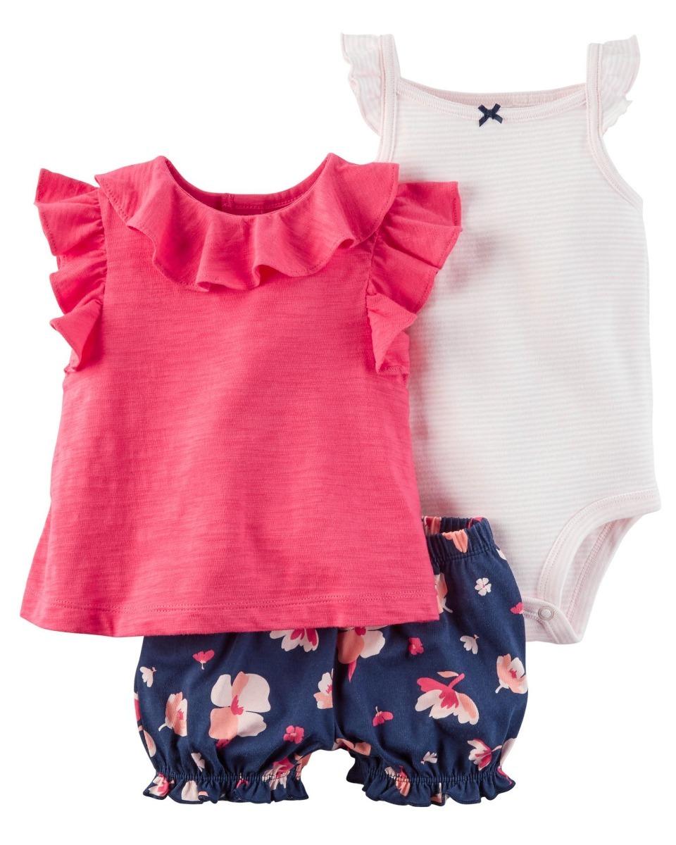 ropa bebé carters 1 conjunto de 3 piezas con short niña. Cargando zoom. 716ff995996c