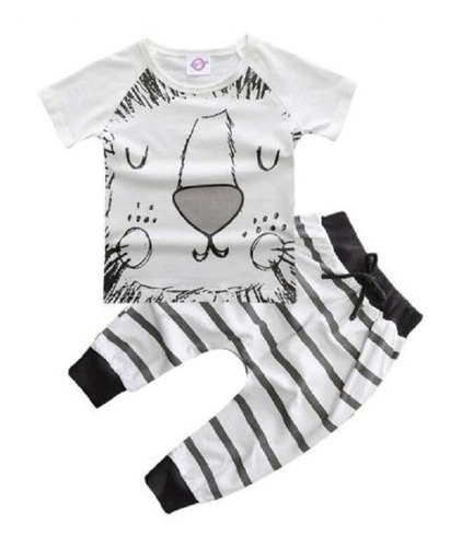 ropa bebé conjunto algodón (polo-pantalón) talla 6m