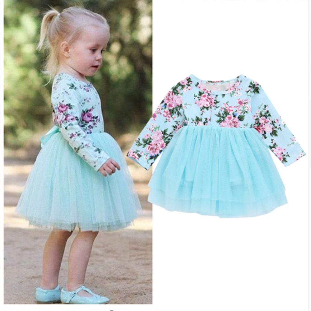 a093b63f0 ropa bebé niña invierno vestido estampado flores y tutú. Cargando zoom.