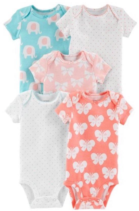 ropa bebe pack 5 bodys algodon carters nena 9 meses. Cargando zoom. dbfe9053076c