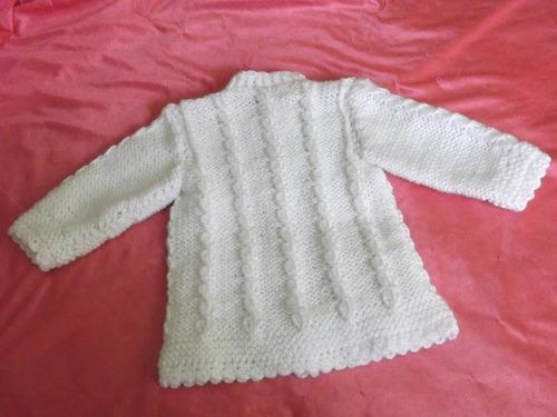 ropa bebe, tejida a mano: lindo conjunto, consta 4 piezas.
