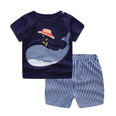 ropa bebe verano conjunto dibujos animados