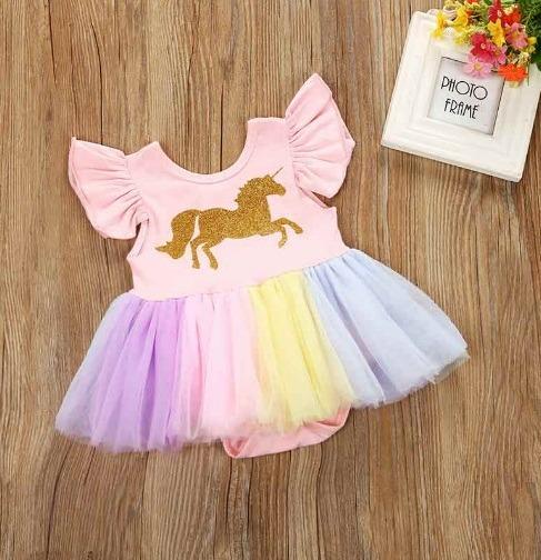 241b052bd Ropa Bebe Vestido Unicornio Moda Japonesa Niña 3-6 M Tutu Nv ...