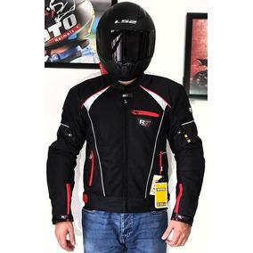 7dd596fe0e4 Chamarra Con Protecciones R7-302 Motociclista Textil Roja