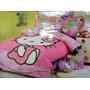 Edredon Infantil + Juego De Sabana Hello Kitty Individual