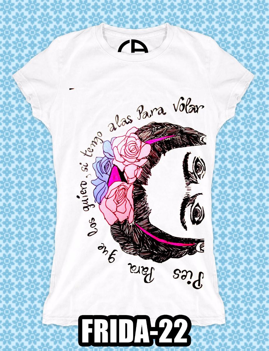 Ropa Camisetas Frida Kahlo Diego Rivera Sorprendente -   150.00 en ... c5aed79d39e1b