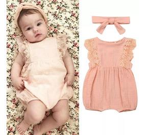 8fd075e25 Ropa Casual Moda Para Niñas Bebé Pañalero Rosa Melon Lindo