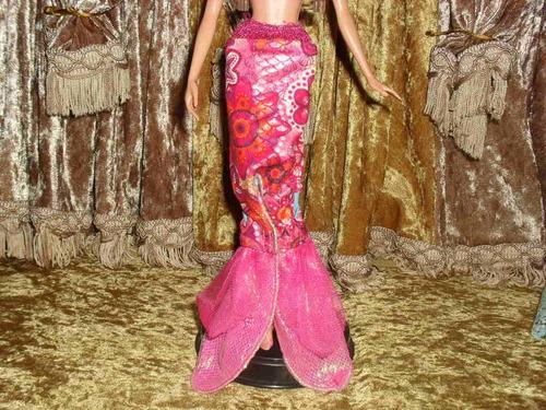 ropa cola de sirena rosita para barbie r127