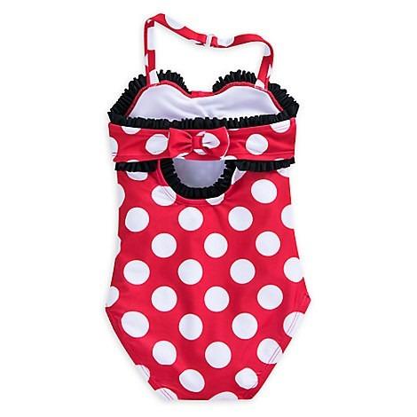 ropa de baño minnie rojo talla 5/6 y 9/10 disney store