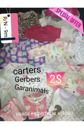 ropa de bebé usada en perfecto estado carter's gerber y más