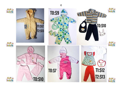 ropa de bebe varios modelos (jacqueline moda infantil)