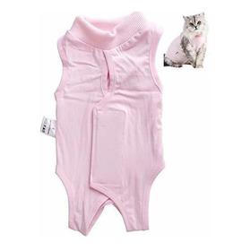 Ropa De Camisa De Traje De Recuperacion De Gato Mascota De L