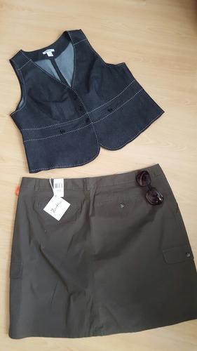 ropa de dama tallas extra 24 w 2x 3x pantalón falda