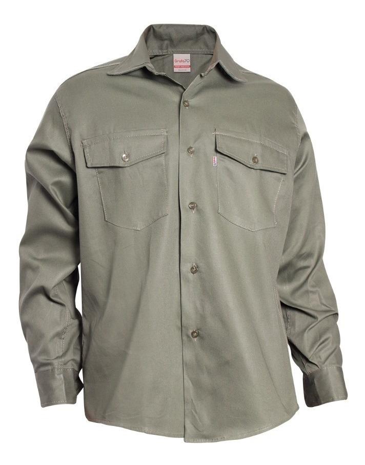 Gpindustrial Ropa De Trabajo Kit Camisa Pantalon Tipo Grafa Flex 2 110 33