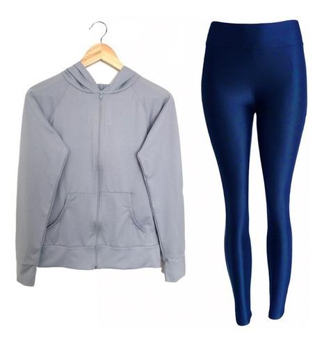 ropa deportiva conjunto licra  legging y chaqueta