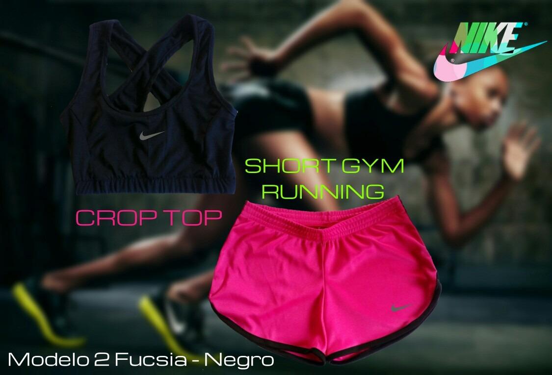 Ropa Deportiva Conjuntos Dama Nike Crop Top Short Gym - Bs. 18.999 ... ec31314339816