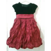 Vestido Niña Fiesta Rojo Y Negro Importado Usa Remate Oferta